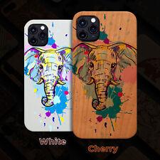 Elephant Head 1  Wood Case iPhone 13/12/11/11 Pro/Max/Mini, X/XR/XS Max
