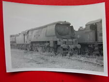 PHOTO  SR WEST COUNTRY LOCO AT BARRY SCRAP YARD V2