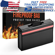 2000℉ Fireproof Waterproof Messenger Satchel Protect Documents Money Safe Bag
