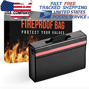 2000℉ Fireproof Waterproof Messenger Satchel Protect Documents Money Safe Bag