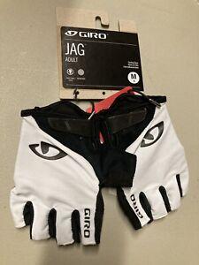 ! Giro JAG Adult Medium Cycling MTB Bike Gloves White/Black