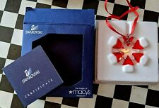 Swarovski Chystal Christmas Ornament Nib Macy's Exclusive