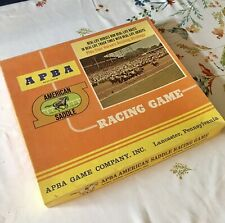 APBA Horse Racing Game. Saddle Racing Game. Played 4 Times!  Purchased in '81