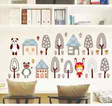 DIY Art Wall Decals Mushrooms House Kids Wall Sticker Home Room Decor Removable