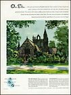 1944 Main Line Protestant Church De Beers Diamonds vintage art Print Ad adL55