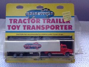 Child World vintage tractor trailer toy transporter