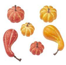 24 Stk Kürbisse orange gelb Herbstdeko Kürbis Deko Herbst Tischdeko Halloween