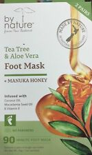 by nature Tea Tree & Aloe Vera Foot Mask + Manuka Honey Pies Skin Piel vitamin E