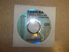 Toshiba Service Manual CD TV/VCR Combo CDSMVCR03 *FREE SHIPPING*