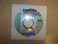 Toshiba Service Manual CD TV/VCR Combo CDSMVCR03 *FREE SHIPPING*