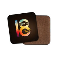 Awesome 18th Birthday Coaster - Eighteen Years Fancy Celebrate Party Gift #19114