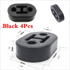 Universal Car 4Pcs Black Rubber 2 Hole 11.5MM Exhaust Muffler Hangers Brackets