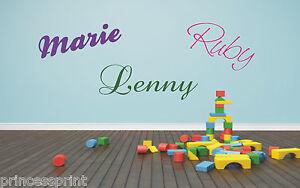 Wandtattoo ♥ Wunschname ♥ Name ♥ Kinderzimmer ♥ Kindername ♥ 30 o. 60cm breit ♥