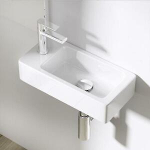 Small White Ceramic Mini Hand Wash Basin Compact Bathroom Cloakroom Sink