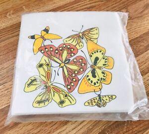 NEW Vintage napkins Monogram California butterfly