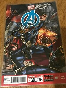 AVENGERS COMIC BOOK ISSUE 002 Marvel Now! Hickman Opena White