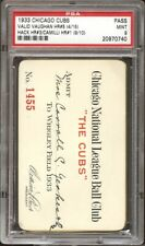 1933 CHICAGO CUBS 9 MINT VINTAGE WRIGLEY FIELD SEASON PASS PSA DNA SLABBED