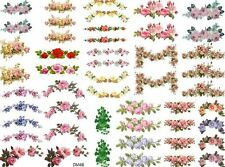 DoLLHouSe MiNiaTureS FLoRaL SWaGs ShaBby WaTerSLiDe DeCALs Découpage DM48