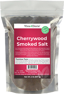 Viva Doria Cherrywood Smoked Sea Salt, Fine Grain, 2 lb Reclosable Bag