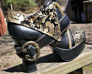 Gothic Steampunk FUNTASMA Womens Shoes Booties NIB
