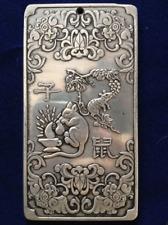 "Old tibetan silver tibet Nepal statue amulet Chinese zodiac ""mice"" thangka"
