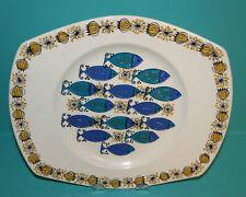 "Vintage Clupea Figgjo Flint turi design Serving Platter Plate Norway Fish 9"""