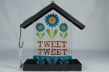 'Tweet Tweet' Glass & Metal Bird Feeder #20131232 New By Silvestri
