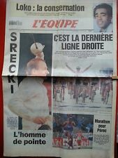 journal  l'équipe 21/07/95 CYCLISME TOUR DE FRANCE 1995 ZABEL COLAGE SCREKI