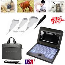 USA fedex,Vet Veterinary portable Ultrasound Scanner 2 probes big/small animals