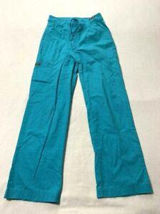 Koi XS Morgan Scrub Pants Teal Turquoise Uniform Bottoms Extra Small 713