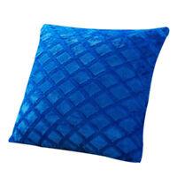 Peluche Douce Housse Coussin Taie Oreiller Jeté Canapé Cushion Cover 45x45cm NF