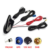 Shark Fin car aerial DAB FM GPS Roof Mount antenna SMB Fakra AUTODAB Digital 5m