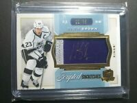 2014-15 Upper Deck The Cup Scripted Swatches Dustin Brown Patch Autograph 11/35