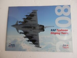 RAF Typhoon Display Team 2008 . 26 Page Brochure.