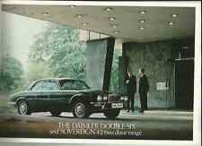 DAIMLER DOUBLE-SIX AND SOVEREIGN 4.2 TWO DOOR RANGE SALES BROCHURE 1976 1977