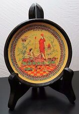 """""""Hand Made In Greece by Artemis"""" Terracotta Clay 4 1/4"""" Vintage Plate"""