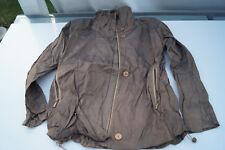 BIBA Damen Jacke Blazer Übergangsjacke Gr.34 braun glanz glänzend TOP