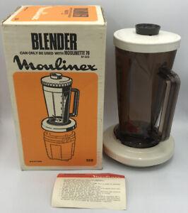 Vintage MOULINEX Machine Blender Jar And Lid  #328 Made in France Retro