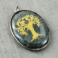 17.00 Grams Earth Mined Untreated Blue Lapis Lazuli Reiki Healing Tree Pendant