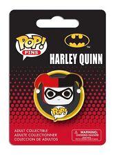 OFFICIAL DC COMICS POP! HEROES HARLEY QUINN CARTOON PIN/ BADGE (NEW)