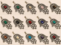 Amazing Wholesale Lot 925 Silver Plated 10Pcs Pendant Gemstone Jewelry