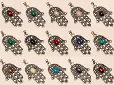 Amazing Wholesale Lot Silver Plated 50Pcs Pendant Gemstone Jewelry