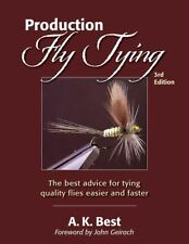 BEST A.K. FISHING BOOK PRODUCTION FLY TYING QUALITY FLIES EASIER AND FASTER pbk