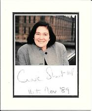 CLARE SHORT - LABOUR MP -  MOUNTED HAND SIGNED AUTOGRAPH WITH PHOTOGRAPH + COA
