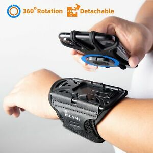 Wristband Sports Phone Removable Rotating Running Wrist Arm Bag Fitness Cycling