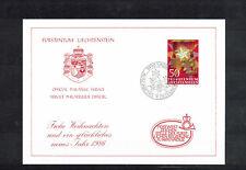 """Grußkarte """" Weihnachten 1985 """" der Postwertzeichenstelle Liechtenstein"""