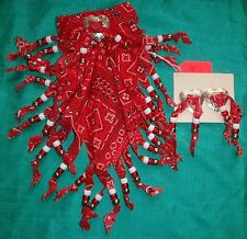 Red Hairbow w Clip Earrings & Beads for My Size Barbie Doll or Child MYHB03WE