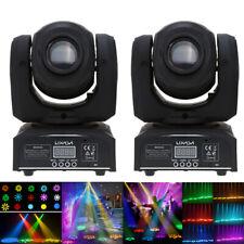 2x Lixada 8 Gobos RGBW DMX-512 Mini Moving Head LED Stage Light 9/11Channel