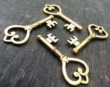 Skeleton Keys Steampunk 2pcs Antiqued Gold 45mm Vintage Wedding Bulk Pendants