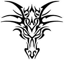Tribal dragon Head Car Decal / Sticker